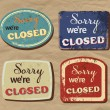 Vintage metal sign - Closed — Stock Vector