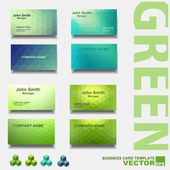 现代的名片模板,绿色集 — 图库矢量图片