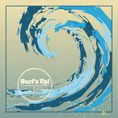 Sea background design template — Stock Vector