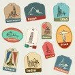 Vacation & travel labels — Stock Vector #47361513