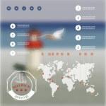 Travel corporate website design — Stock Vector #47361535