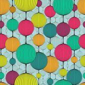 Chaplet seamless pattern — Stock Vector