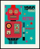 Retro robot — Stock Vector