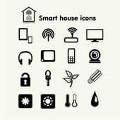 Smart house  set with icons — Stock Vector