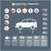 Car auto service infographics design elements — Stock Vector