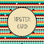 Hipster card template — Stock Vector