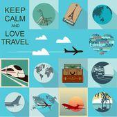 Ilustración de viajes — Vector de stock