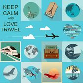 Seyahat illüstrasyon — Stok Vektör