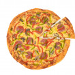 Top view of pizza — Stock Photo