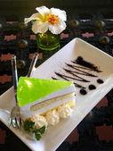 Lemon mousse cake — Stock Photo