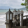 Lantern at the seaboard — Stock Photo