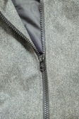 Gray jacket and zipper — Stock Photo