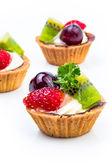 Tarta mini owoców — Zdjęcie stockowe