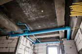 Unfinished sanitation construction — Stock Photo