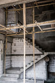 Unfinished stair construction — Stock Photo