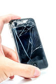 Broken phone screen — Stock Photo