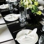 Masa dekorasyonu için yemek vakti — Stok fotoğraf #48559589