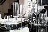 Bordsdekoration för matdags — Stockfoto