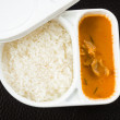 Rice and curry in the meal box set — Stock Photo #48771707