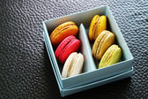 Colorful Macarons In The Paper Box — Stock Photo