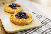 Blueberry danish — Stock Photo