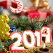 new Year. 2014 — Stock Photo