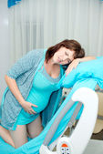 Pregnant woman in hospital. Births in hospital — Stock Photo