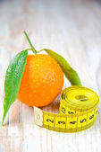 Fresh tangerines. Diet for Weight Loss — Stock Photo