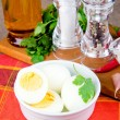 Foto Stock: Boiled eggs