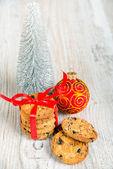 Cookies and Christmas tree — Stock Photo
