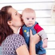Picture of happy mother with adorable baby — Stock Photo #40730323