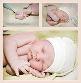 Newborn collage — Stock Photo