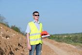 Engineer Road Service — ストック写真