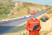 Engineer Road Service — Stock Photo