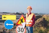 инженер дорожного сервиса — Стоковое фото