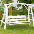 Swing white chair — Stock Photo