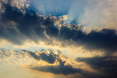 Sky with black Cloud — Stock Photo