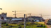 Budování staveniště — Stock fotografie