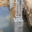 Cement pillar in construct site — Stock Photo
