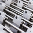 Stock Photo: Aluminium structural metal shapes