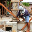 Stock Photo: Foundation for home building
