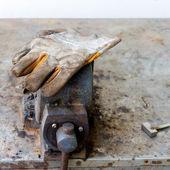 Rukavice bezpečnost pro průmyslové práce — Stock fotografie