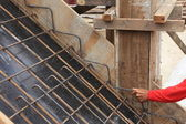 Foundation steel for home building — Stock Photo