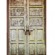 Old wooden door frame — Stock Photo