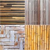 Conjunto de parede textura de madeira com padrões naturais — Foto Stock