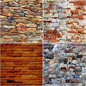 Set of brick wall texture background — Stock Photo