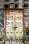 Old wooden door frame — Stock Photo