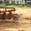 Tractor working in construction site  — Stock Photo