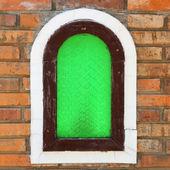 Grüne fenster — Stockfoto