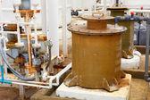 工場出荷時の窒素化学プラント — ストック写真